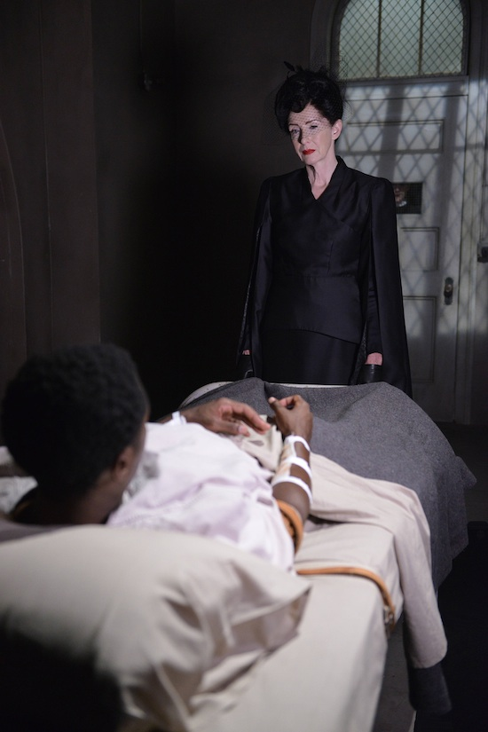 American Horror Story Asylum Frances Conroy Angel