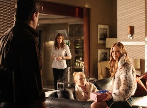 NATHAN FILLION (OBSCURED), STANA KATIC, MOLLY QUINN, DARBY STANCHFIELD