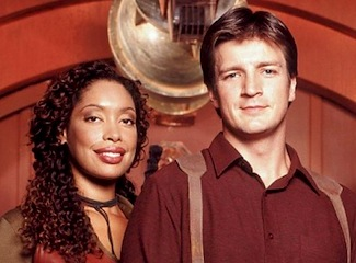Gina Torres & Nathan Fillion in Firefly