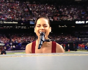 alicia keys national anthem super bowl