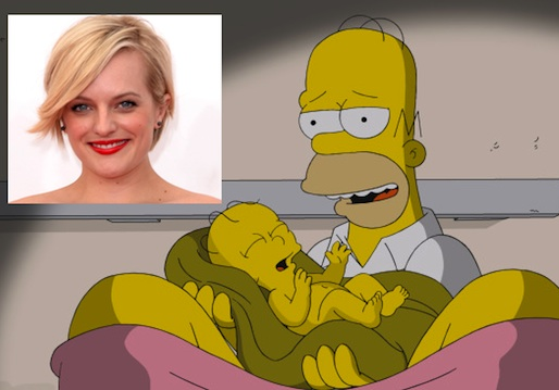 The Simpsons Season 25 Spoilers Elisabeth Moss
