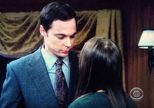 The Big Bang Theory Sheldon Amy kiss