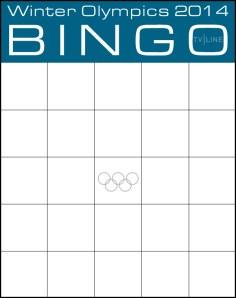 Winter Olympics Bingo Cards