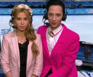 Johnny Weir Tara Lipinski Olympics