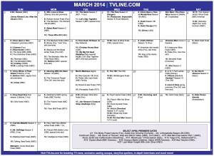 TV Calendar 2014
