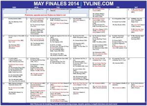 TV Calendar 2014 Finales