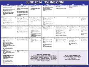 TV Calendar 2014 June