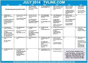 TV Calendar 2014 July