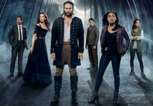Cast L-R: Orlando Jones, Katia Winter, Tom Mison, John Noble, Nicole Beharie and Lyndie Greenwood