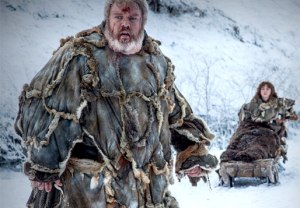 Bran Stark and Hodor on Game of Thrones