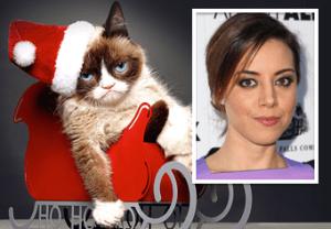 Grumpy Cat Aubrey Plaza