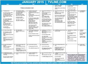 TV Calendar 2015 January