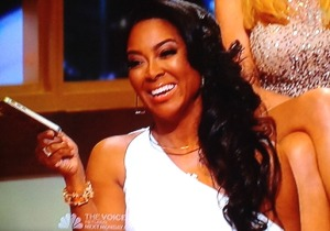 Kenya Moore at the live Apprentice finale