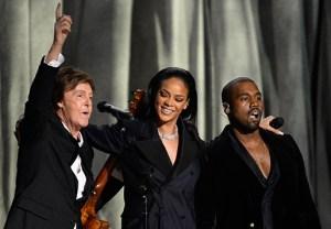 Rihanna Kanye Grammy Performance