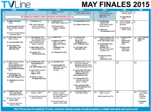 TV Calendar May Finales