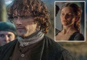 Outlander Jamie Kiss Laoghaire Sam Heughan