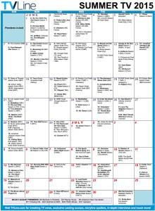 TV Calendar Summer 2015