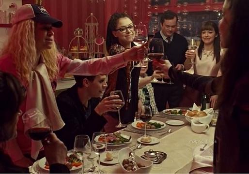Orphan Black Dinner Scene