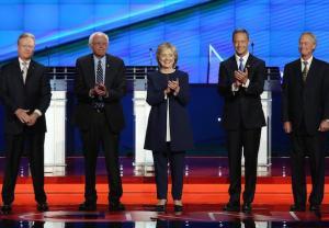 Anderson Cooper in First Democratic Presidential Debate
