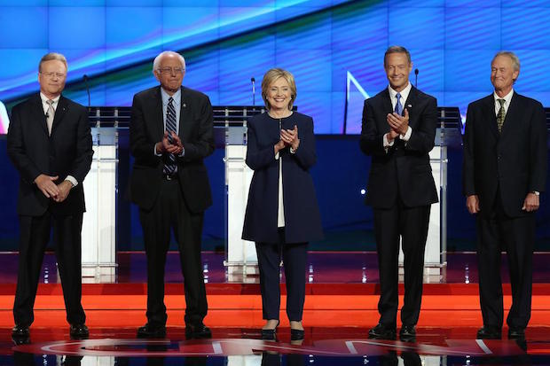 Anderson Cooper in First Democratic Presidential Debate