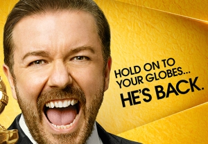 Golden Globes 2016 Poster Ricky Gervais