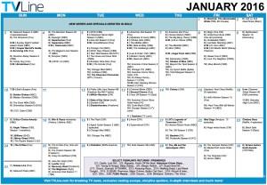 TV Calendar 2016