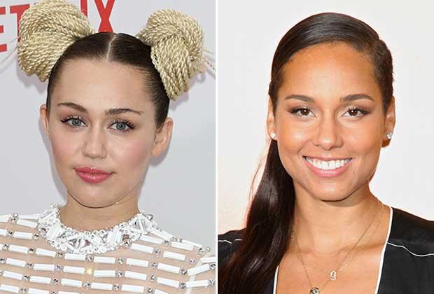 Miley Cyrus Alicia Keys The Voice