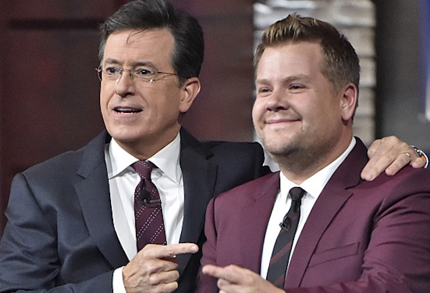 Colbert Corden Time Slot Change