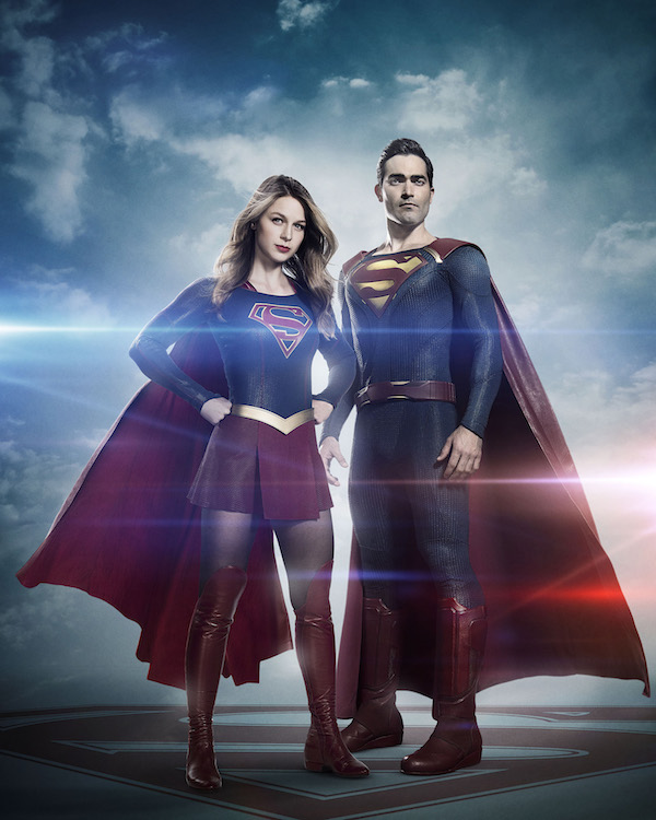 Superman on Supergirl Photo