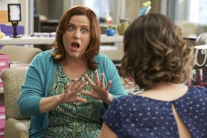 "Crazy Ex-Girlfriend -- ""Where Is Josh's Friend?"" -- Image Number: CEG201b_0226.jpg -- Pictured (L-R): Donna Lynne Champlin as Paula and Rachel Bloom as Rebecca -- Photo: Scott Everett White/The CW -- ©2016 The CW Network, LLC. All Rights Reserved."
