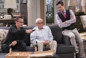 "Matthew Perry, Garry Marshall and Thomas Lennon in the Season 2 episode ""Madison & Son"""