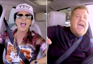 Bruno Mars Carpool Karaoke Video James Corden