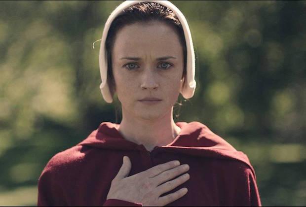 Alexis Bledel in the Handmaid's Tale