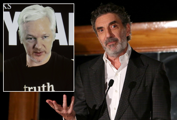 Chuck Lorre Jullian Assange
