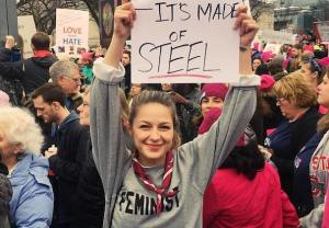 Women's March Melissa Benoist