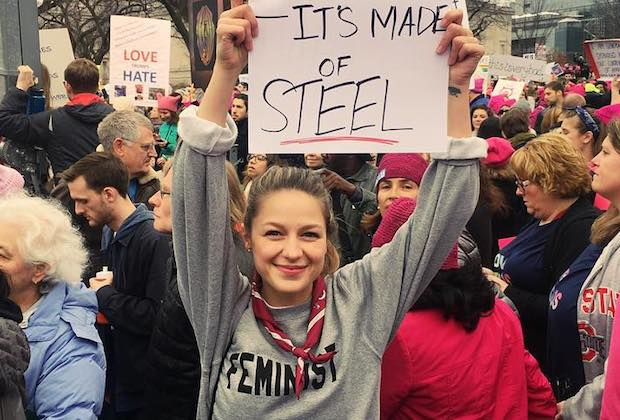 Women's March Melissa Benoist