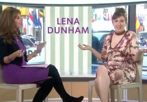 Lena Dunham Today Show