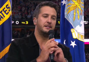 Luke Bryan National Anthem Super Bowl Video