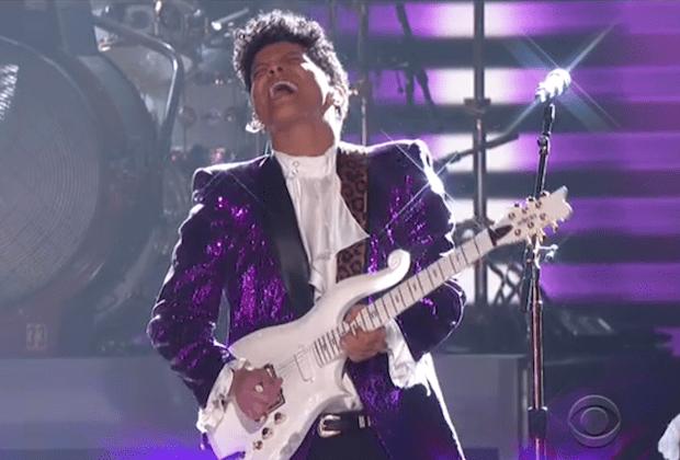 Prince Bruno Mars Grammys Video Watch
