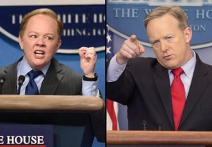 Spicer Reacts SNL McCarthy