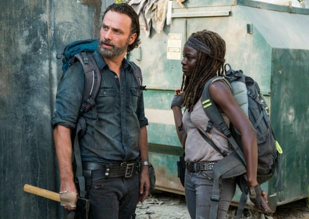 The Walking Dead Season 7 PaleyFest Rick Michonne