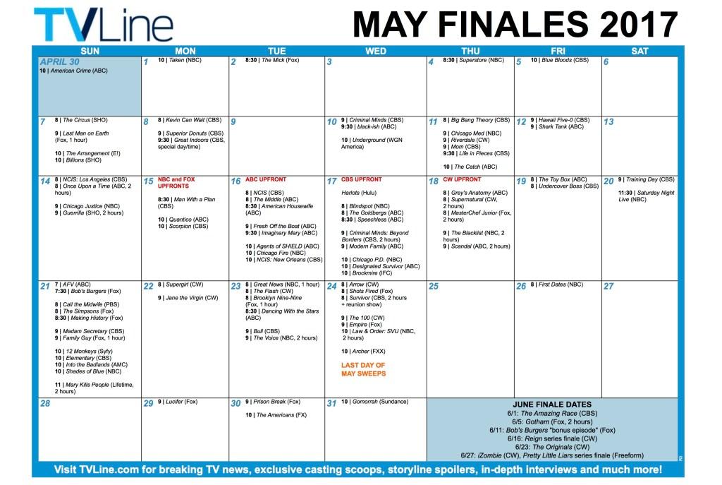 TV Schedule Finales