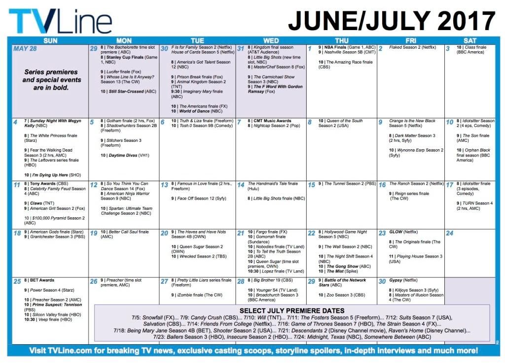 TV Schedule Summer