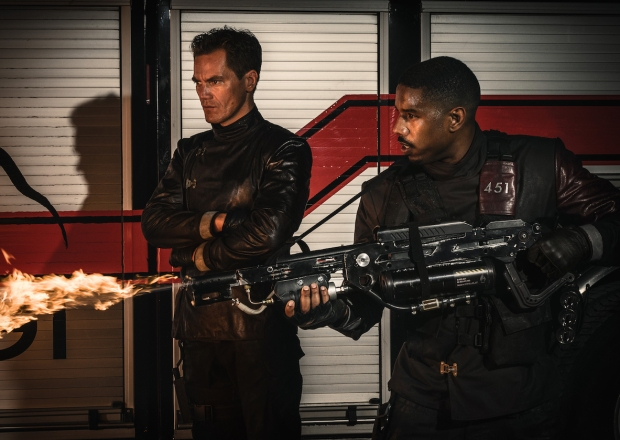 Fahrenheit 451 HBO Movie Michael B. Jordan Michael Shannon