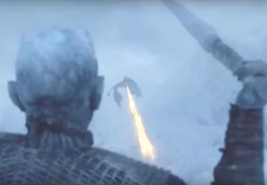 Game of Thrones Dragon White Walekr Viserion Dies Dead Season 7 Episode 6