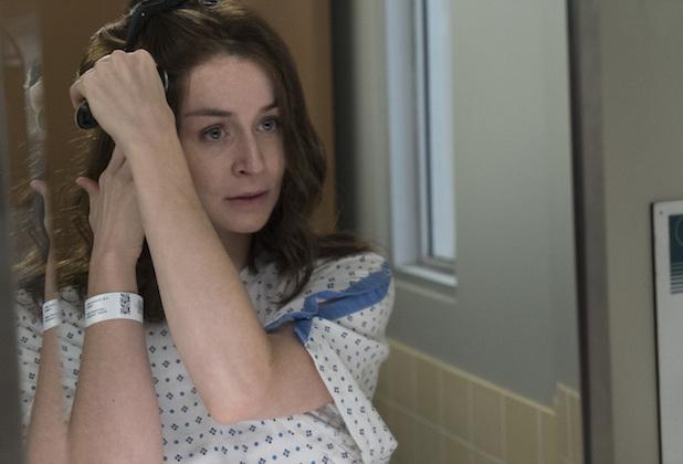 greys anatomy season 14 spoilers episode 4 caterina scorsone amelia tumor