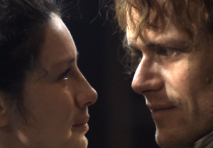 Outlander Print Shop Sam Heughan Caitriona Balfe Interview Season 3 Episode 6