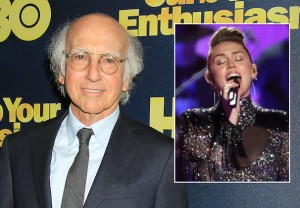 SNL Larry David Miley Cyrus