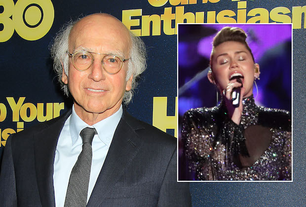 SNL Larry David Miley Cyrus