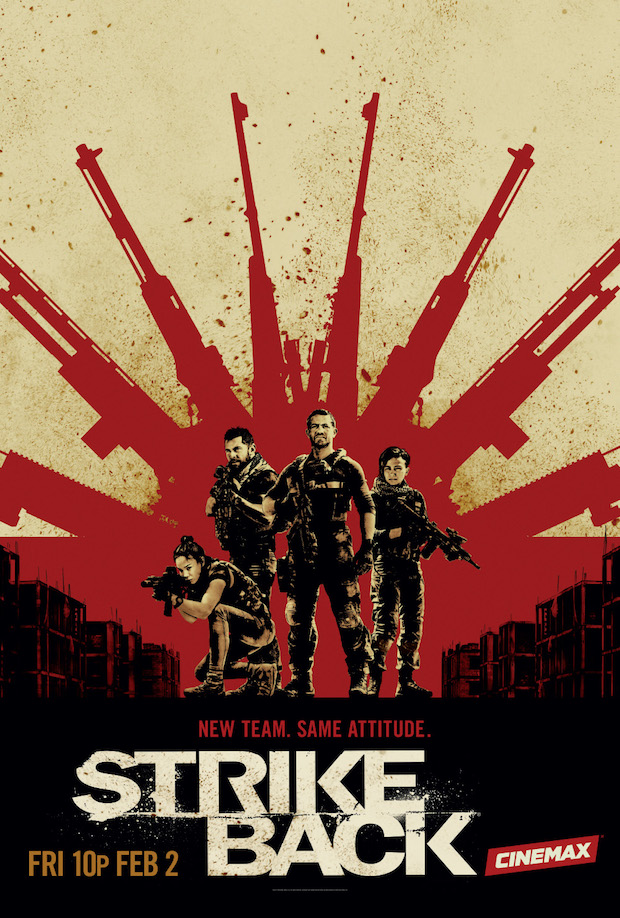 Strike Back Season 5 Cinemax Poster